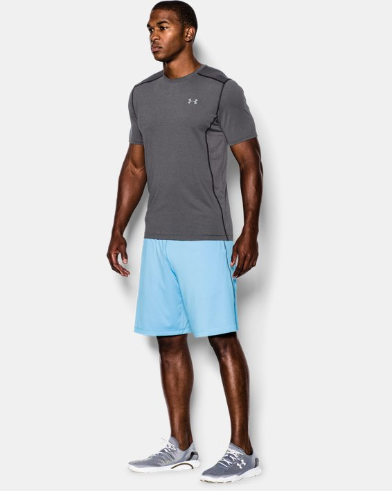 Men's UA Raid Short Sleeve T-Shirt, Gray, pdpMainDesktop image number 2