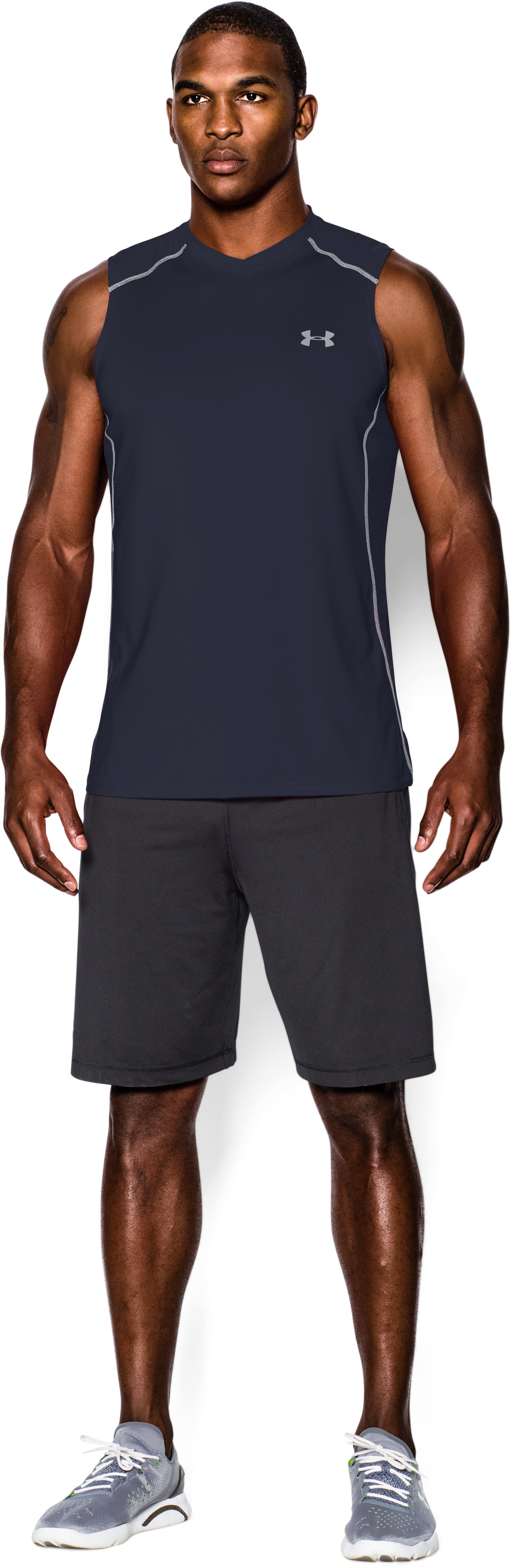 Men's UA Raid Sleeveless T-Shirt, Midnight Navy, zoomed image