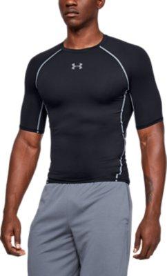 Black Under Armour Project Rock HeatGear Mens Short Sleeve Compression Top