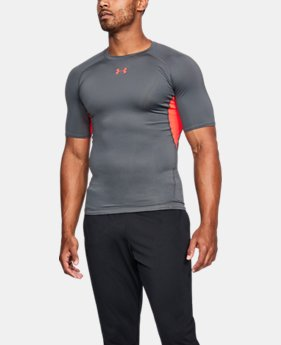 Best Seller Men's UA HeatGear® Armour Short Sleeve Compression Shirt  2  Colors Available $27.99