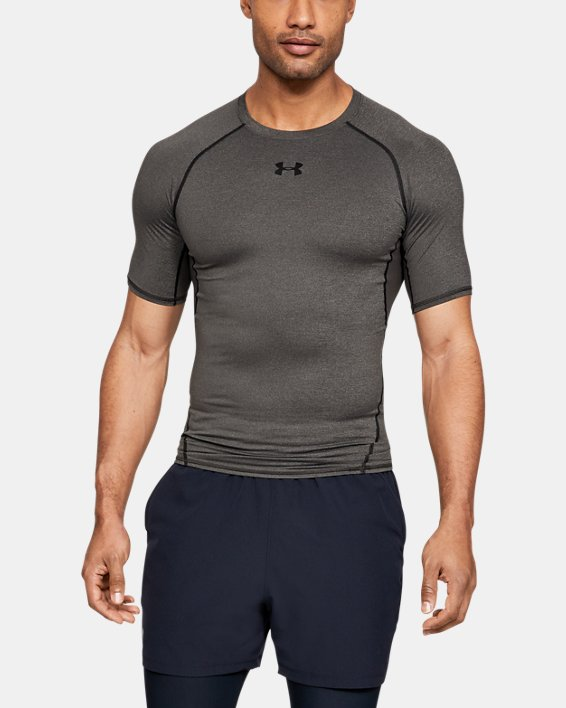 T-shirt Compression UA HeatGear® Armour à manches courtes pour homme, Gray, pdpMainDesktop image number 0