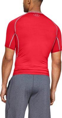 Under Armour UA Men NWT HeatGear Black Short Sleeve Compression Shirt Retail $28