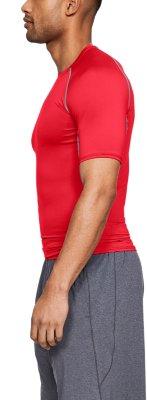 Mens Under Armour athletic medium shirt short sleeve black stripe heat gear NEW