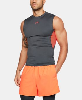 Best Seller Men's UA HeatGear® Armour Sleeveless Compression Shirt  2  Colors Available $24.99