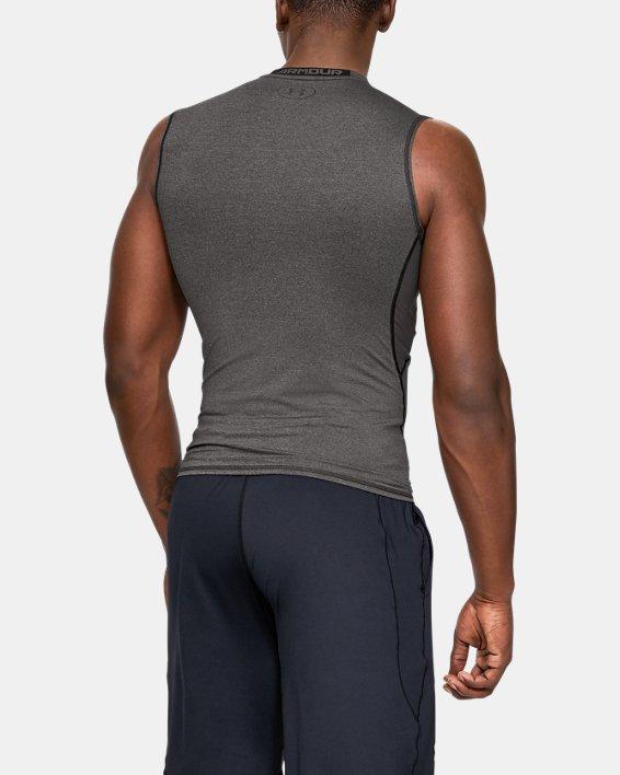 Men's UA HeatGear® Armour Sleeveless Compression Shirt, Gray, pdpMainDesktop image number 1