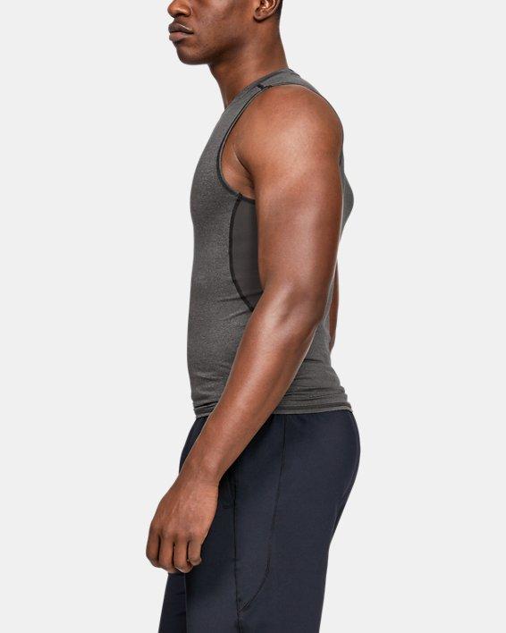 Men's UA HeatGear® Armour Sleeveless Compression Shirt, Gray, pdpMainDesktop image number 2