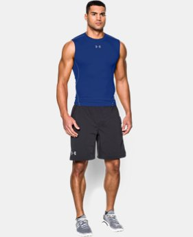Best Seller Men's UA HeatGear® Armour Sleeveless Compression Shirt LIMITED TIME: FREE U.S. SHIPPING 1  Color Available $24.99