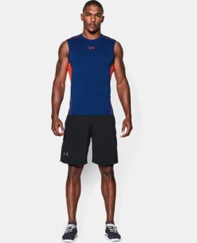 Men's UA HeatGear® Armour Sleeveless Compression Shirt   $18.99