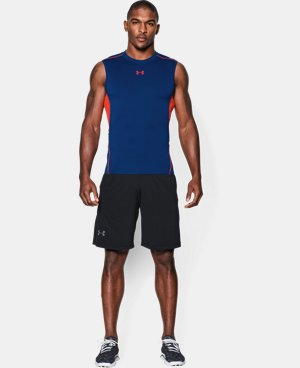 Men's UA HeatGear® Armour Sleeveless Compression Shirt  1 Color $14.24
