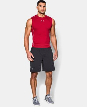 Best Seller Men's UA HeatGear® Armour Sleeveless Compression Shirt  1  Color Available $24.99