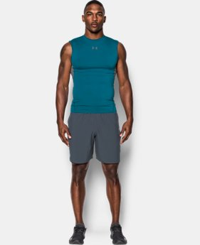 Best Seller Men's UA HeatGear® Armour Sleeveless Compression Shirt  4 Colors $24.99
