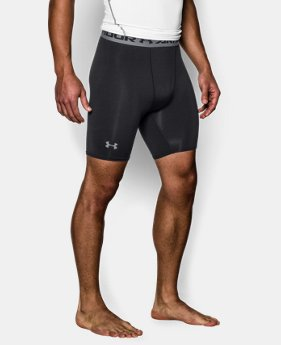 Men's UA HeatGear® Armour Compression Shorts — Mid  2 Colors $13.12