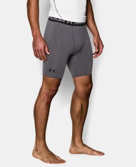Men's UA HeatGear® Armour Compression Shorts — Mid  1 Color $17.99