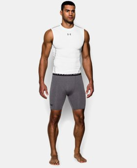 Men's UA HeatGear® Armour Compression Shorts – Mid   2 Colors $24.99