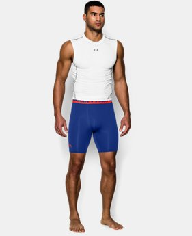 Men's UA HeatGear® Armour Compression Shorts – Mid