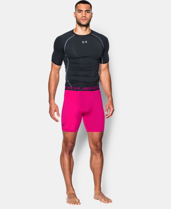 Men's UA HeatGear® Armour Compression Shorts – Mid   1 Color $24.99