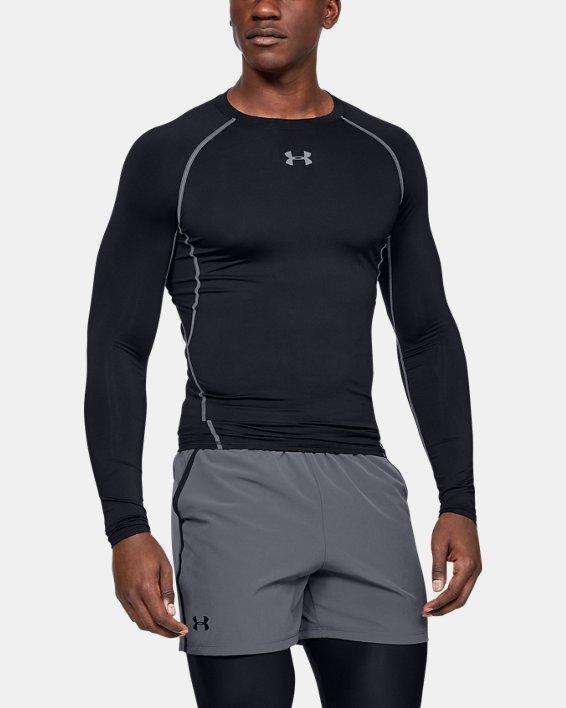 T-shirt de compression à manches longues UA HeatGear® Armour pour homme, Black, pdpMainDesktop image number 0