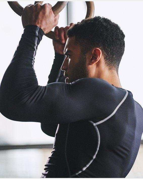 T-shirt de compression à manches longues UA HeatGear® Armour pour homme, Black, pdpMainDesktop image number 3