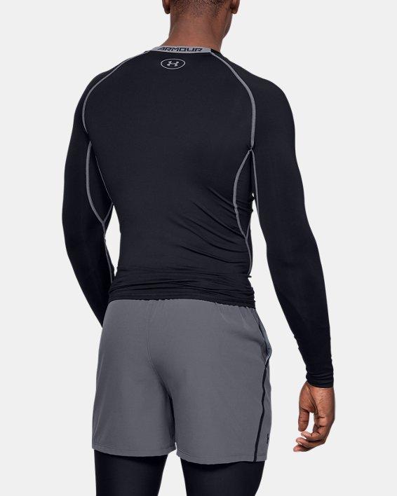 T-shirt de compression à manches longues UA HeatGear® Armour pour homme, Black, pdpMainDesktop image number 2
