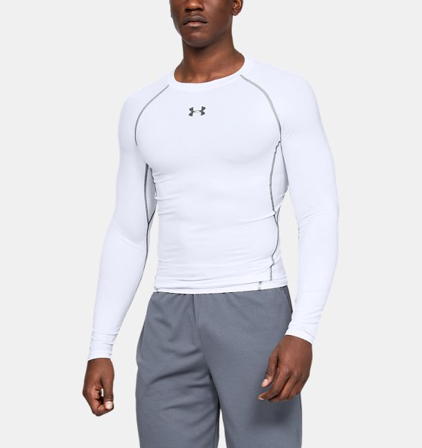 ba661110 Men's UA HeatGear® Armour Long Sleeve Compression Shirt | Under ...