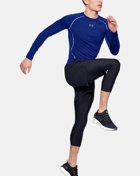 Men's UA HeatGear® Armour Long Sleeve Compression Shirt, Blue, pdpMainDesktop image number 3