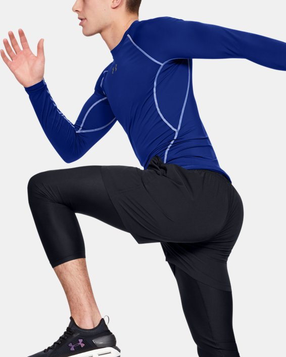 Men's UA HeatGear® Armour Long Sleeve Compression Shirt, Blue, pdpMainDesktop image number 5