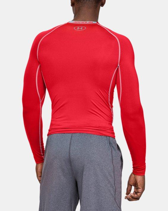 Men's UA HeatGear® Armour Long Sleeve Compression Shirt, Red, pdpMainDesktop image number 3