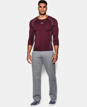 Men's UA HeatGear® Armour Long Sleeve Compression Shirt EXTRA 25% OFF ALREADY INCLUDED 2 Colors $20.24 to $34.99