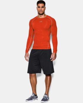 Men's UA HeatGear® Armour Long Sleeve Compression Shirt  2  Colors Available $18.99 to $20.99