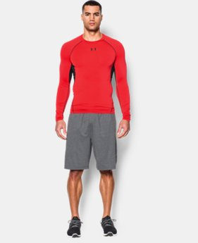 Men's UA HeatGear® Armour Long Sleeve Compression Shirt EXTENDED SIZES 1 Color $26.99
