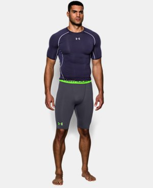 Men's UA HeatGear® Armour Compression Shorts – Long   4 Colors $17.24