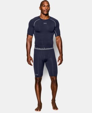 Men's UA HeatGear® Armour Compression Shorts – Long   4 Colors $17.24 to $17.99