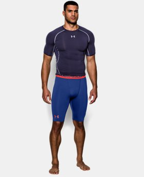 Men's UA HeatGear® Armour Compression Shorts – Long   2 Colors $17.24