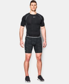 Men's UA HeatGear® Armour Printed Compression Shorts  6 Colors $22.99
