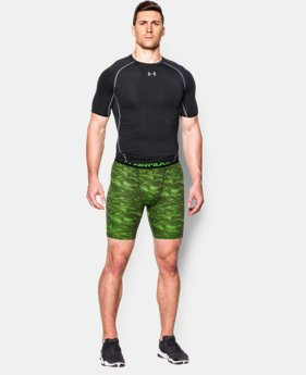 Men's UA HeatGear® Armour Printed Compression Shorts  4 Colors $22.99
