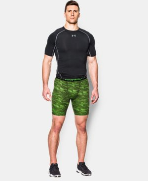 Men's UA HeatGear® Armour Printed Compression Shorts  2 Colors $17.24