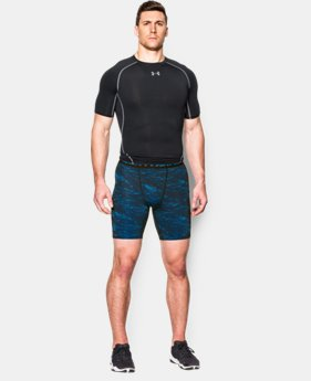 Men's UA HeatGear® Armour Printed Compression Shorts   $26.99