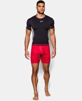 Men's UA HeatGear® Armour Printed Compression Shorts