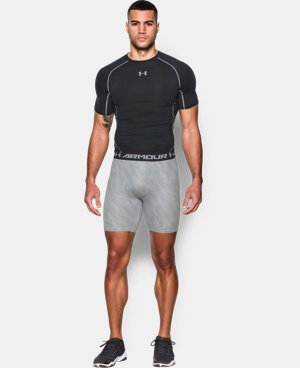Men's UA HeatGear® Armour Printed Compression Shorts  1 Color $17.24