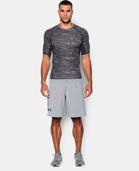 Men's UA HeatGear® Armour Printed Short Sleeve Compression Shirt  1 Color $20.24