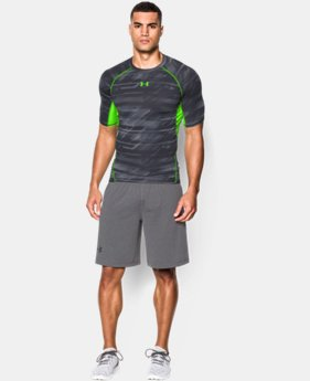Men's UA HeatGear® Armour Printed Short Sleeve Compression Shirt  6 Colors $19.99 to $24.99