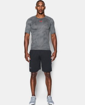 Men's UA HeatGear® Armour Printed Short Sleeve Compression Shirt  3 Colors $32.99