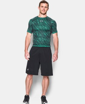 Men's UA HeatGear® Armour Printed Short Sleeve Compression Shirt LIMITED TIME: FREE SHIPPING 3 Colors $32.99