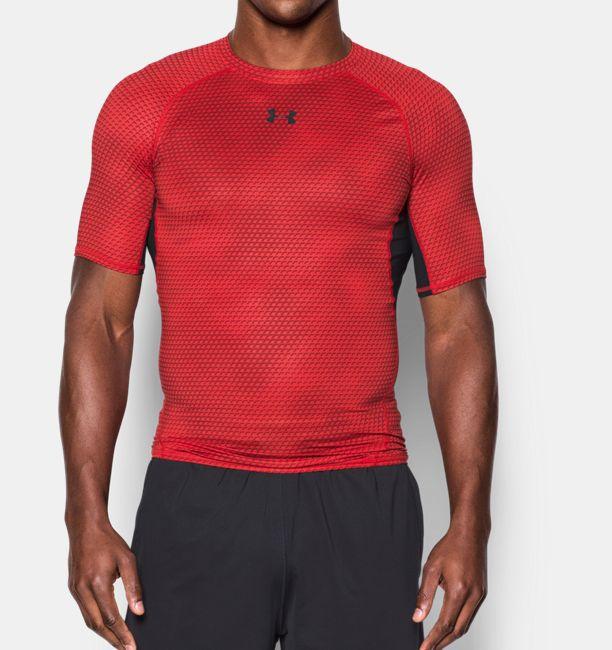 Men s UA HeatGear® Armour Printed Short Sleeve Compression Shirt ... cfc758aac