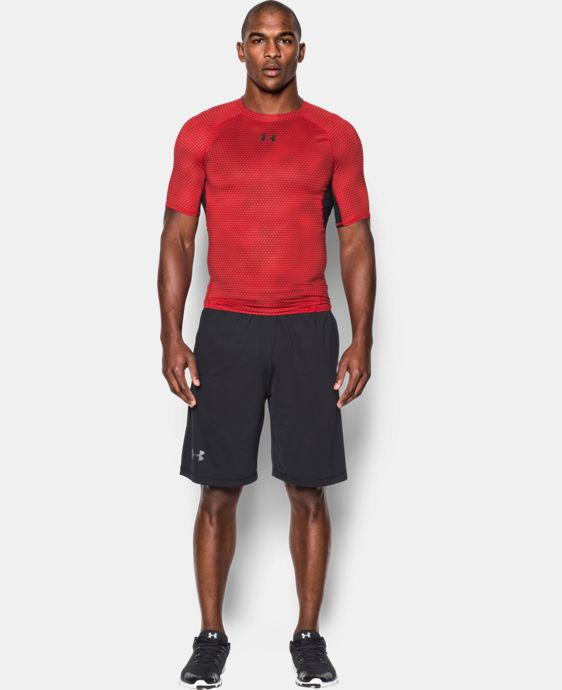 Men's UA HeatGear® Armour Printed Short Sleeve Compression Shirt   $34.99