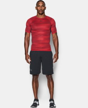 Men's UA HeatGear® Armour Printed Short Sleeve Compression Shirt   $32.99