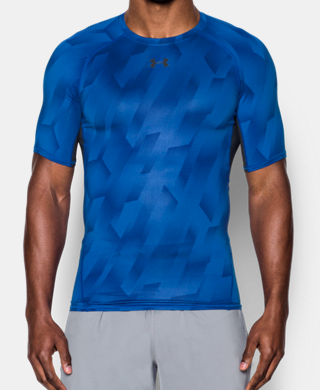 Men's UA HeatGear® Armour Printed Short Sleeve Compression Shirt