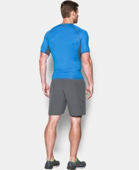 Men's UA HeatGear® Armour Printed Short Sleeve Compression Shirt  1 Color $34.99