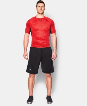 Men's UA HeatGear® Armour Printed Short Sleeve Compression Shirt