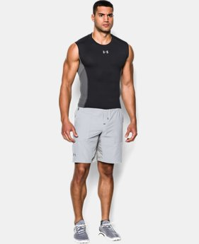 Men's UA HeatGear® Armour® Stretch Sleeveless Compression Shirt